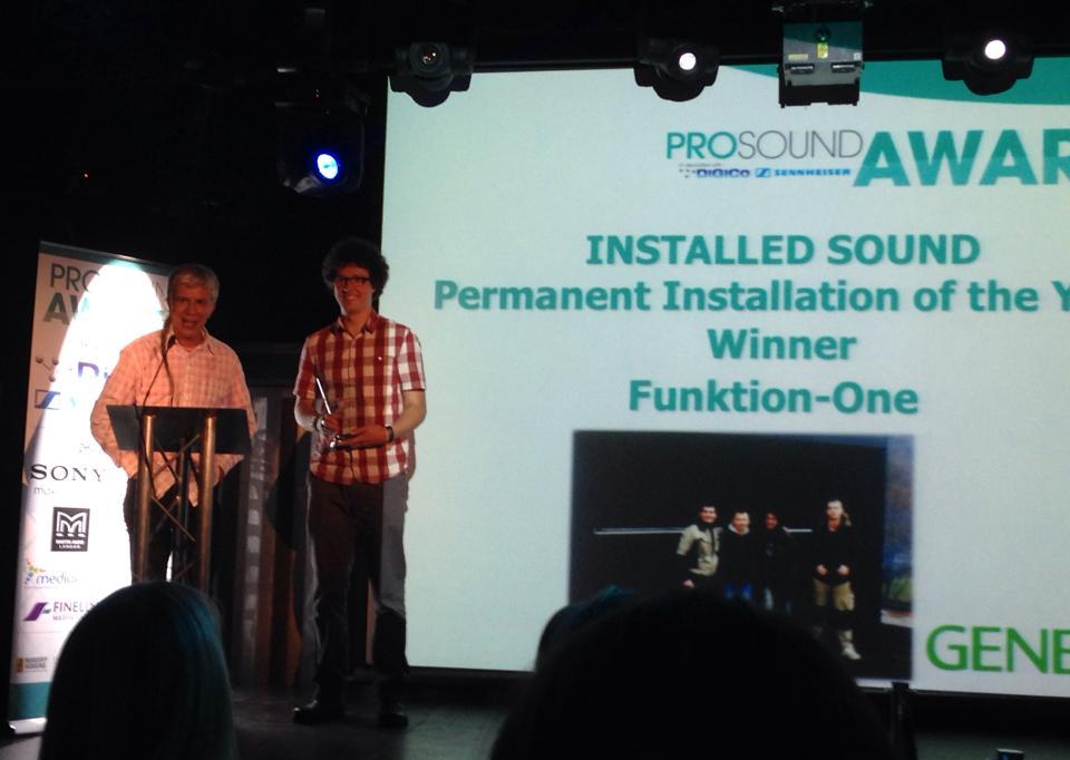 FUNKTION ONE получили награду в номинации «Стационарная инсталляция года»